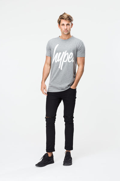 HYPE BASIC LOGO  GRAPHITE/WHITE  MEN'S T-SHIRT
