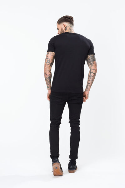 HYPE GRADIENT FLORAL CIRCLE  BLACK  MEN'S T-SHIRT