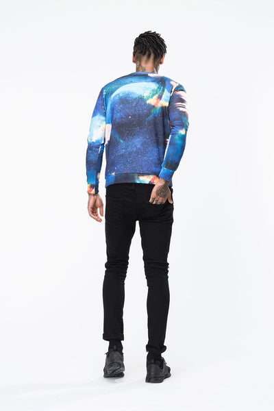 HYPE EXPOSED SPACE AOP  MULTI  MEN'S CREWNECK