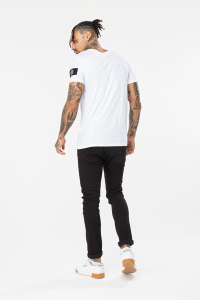 HYPE INSIGNIA MEN'S T-SHIRT-WHITE