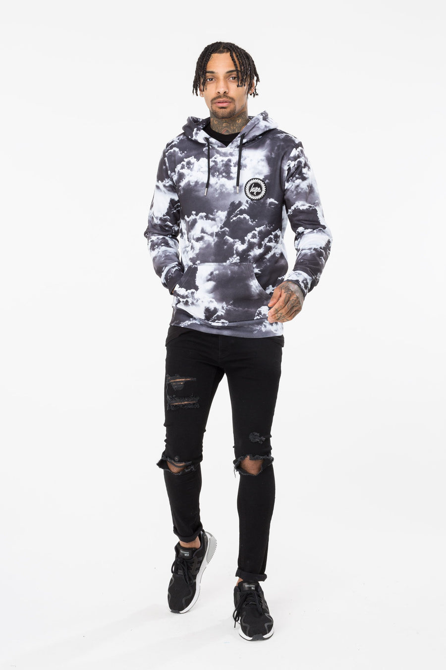 HYPE CLOUDS MEN'S PULLOVER HOODIE
