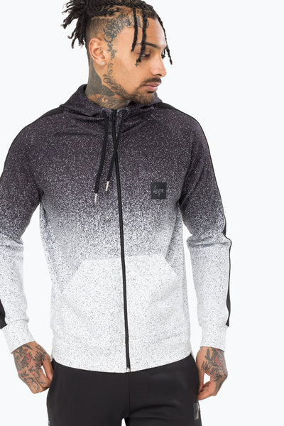 HYPE SPECKLE POLY STRIPE MEN'S ZIP HOODIE