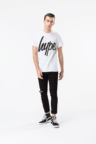HYPE SCRIPT  WHITE/BLACK  MEN'S T-SHIRT