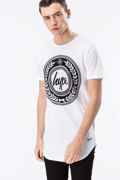 HYPE REEF  WHITE/BLACK  MEN'S DISHED T-SHIRT