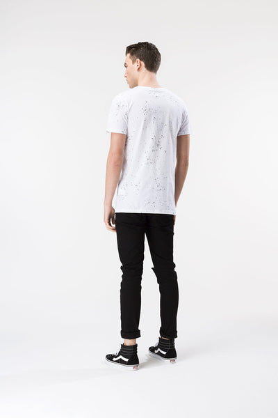 HYPE AOP SPECKLE  WHITE/BLACK  MEN'S T-SHIRT