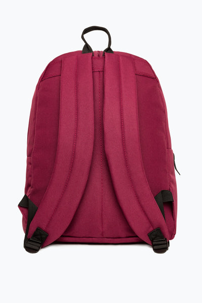 HYPE BADGE BURGUNDY BACKPACK