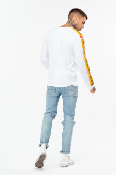 HYPE WHITE FLORAL 93 MEN'S L/S T-SHIRT