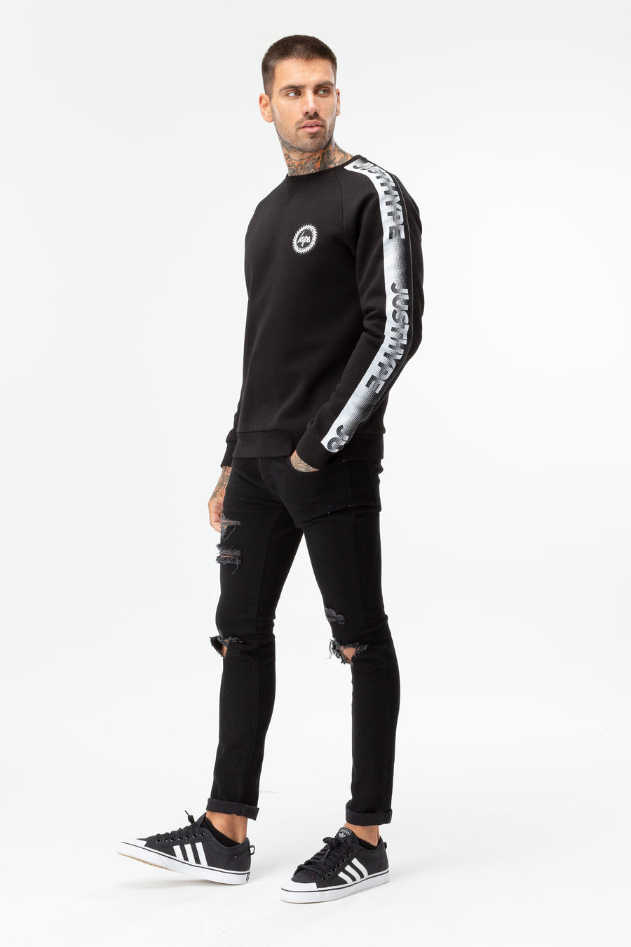 HYPE SPECKLE TAPE MEN'S CREW NECK