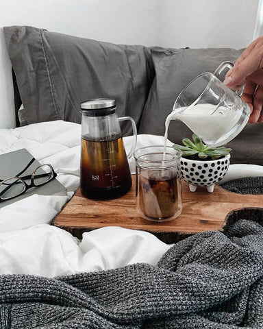 Cold Brew Coffee with milk and Cold Brew Maker | Ovalware