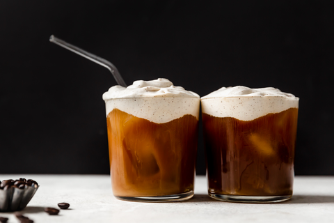 Cold Brew Coffee with Whipped Cream & Caramel