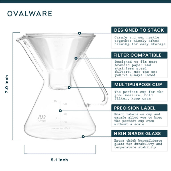 OVALWARE specialty coffee equipment pour over maker without filter