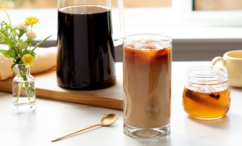 Cold Brew Coffee with Honey Syrup