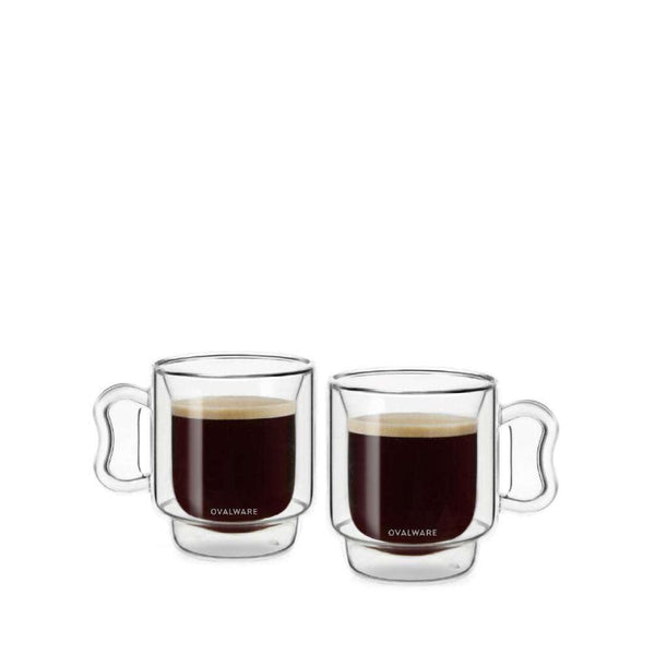 OVALWARE Double Wall Espresso Cups