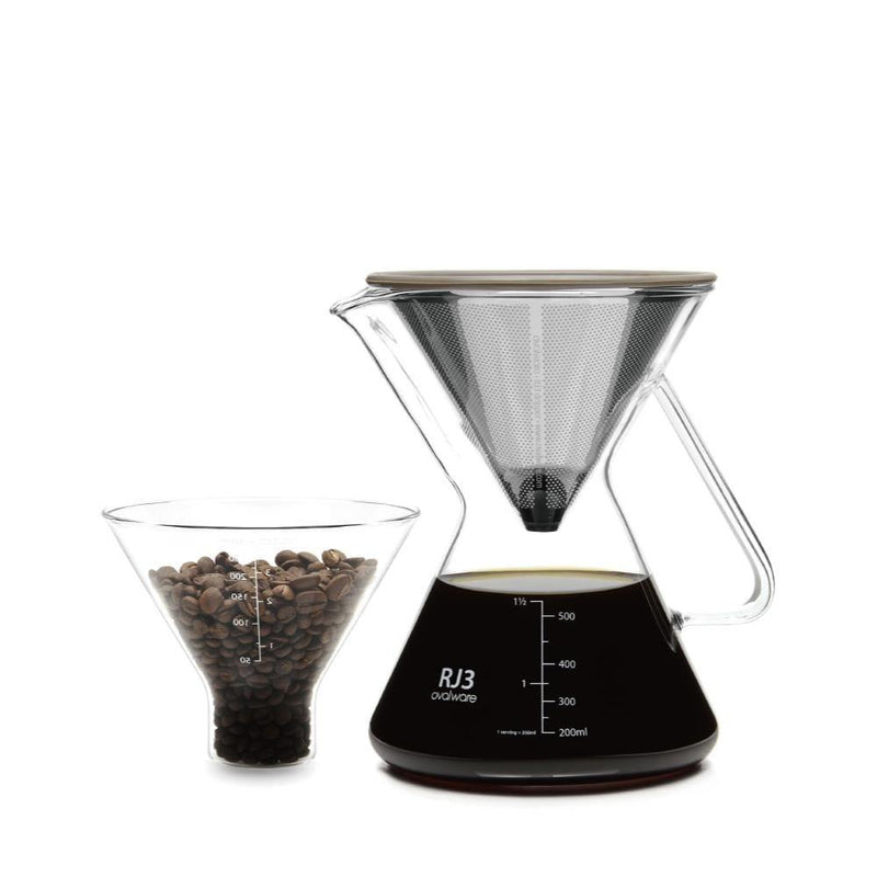 Pour Over Coffee Maker w/ Filter - Ovalware
