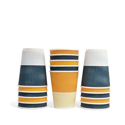 Wave Disposable Paper Cups