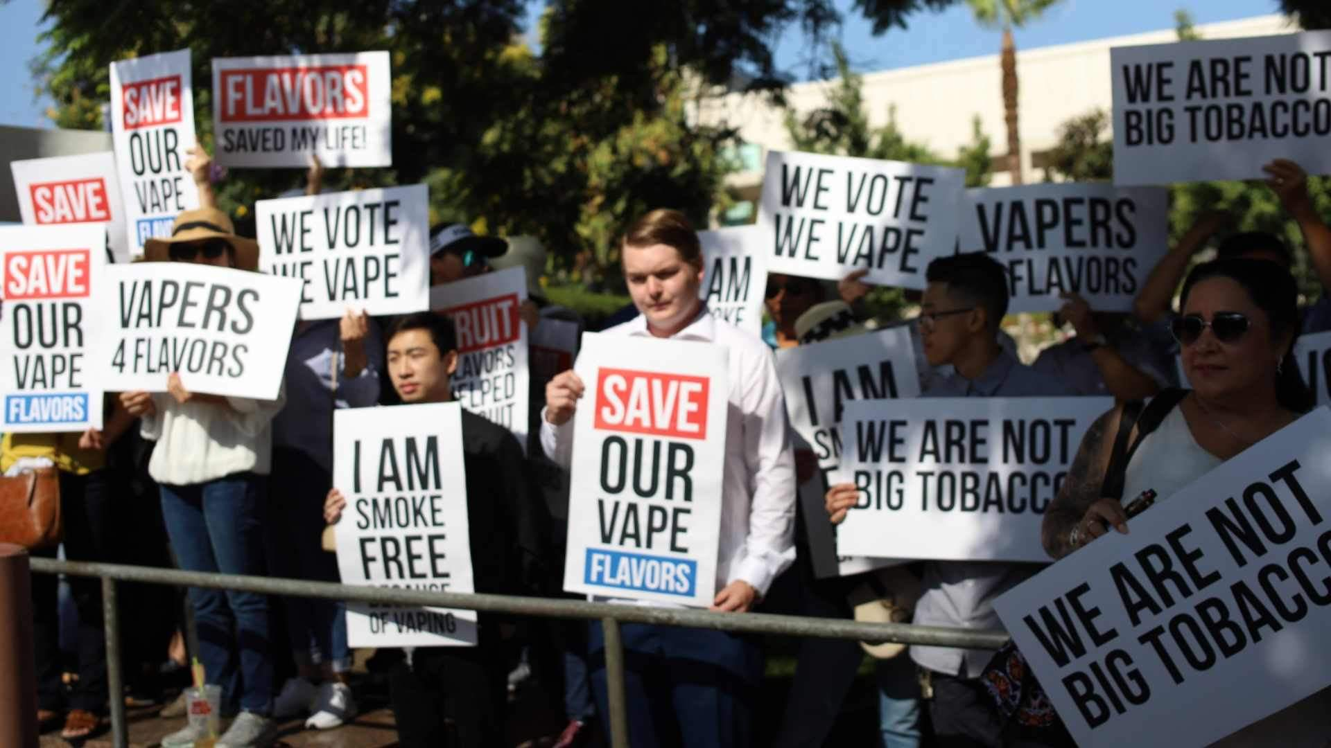 la flavored vape ban rally