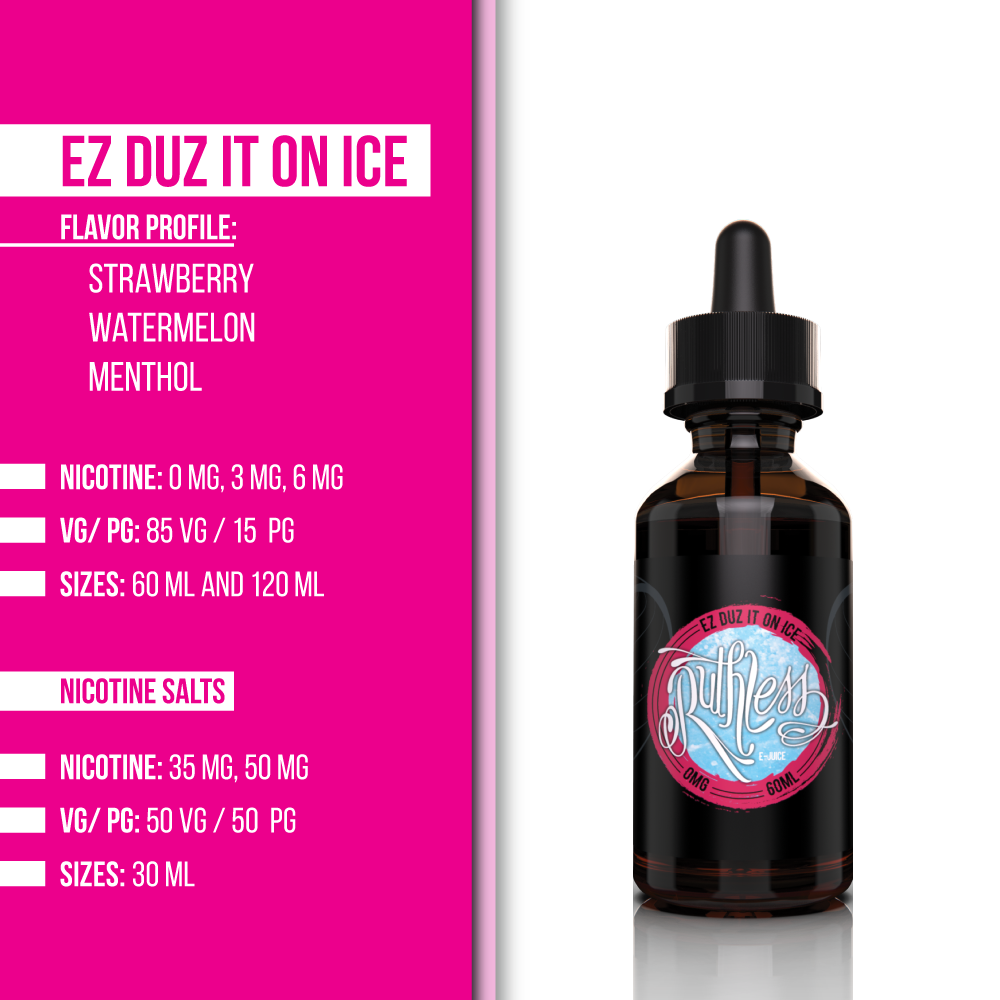 Ez Duz It On Ice E-juice | Ruthless Vapor