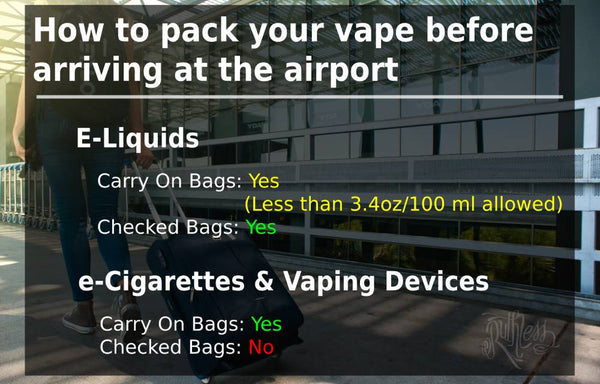 rules for traveling with your vape or ecigarette
