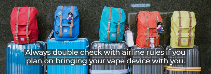 traveling with your vape device in your luggage