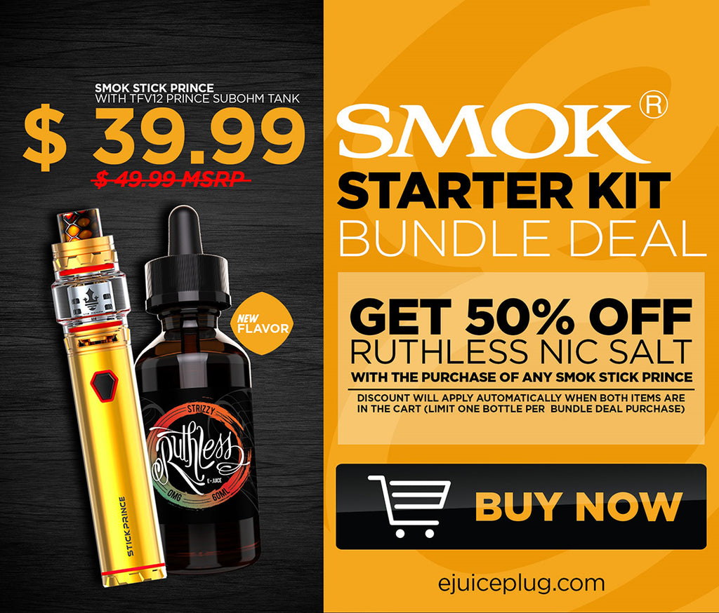 uygPrince Starter Kit Mobile Graphic at E-Juice Plug