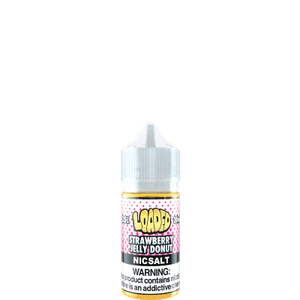 Loaded strawberry jelly donut nicotine salt vape juice bottle 30ml
