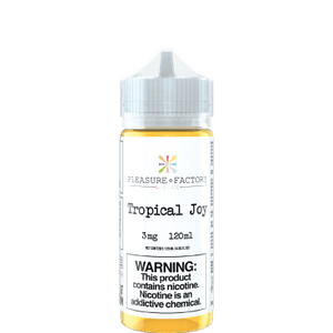 Pleasure Factory Tropical Joy 120ml Vape Juice bottle