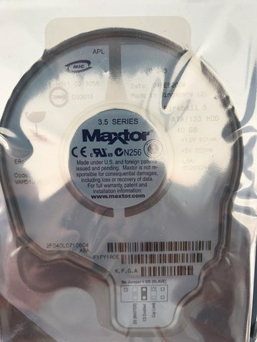 "Maxtor (2F040L0) 40GB, 5400RPM, 3.5"" Internal Hard Drive - Anand International Inc."