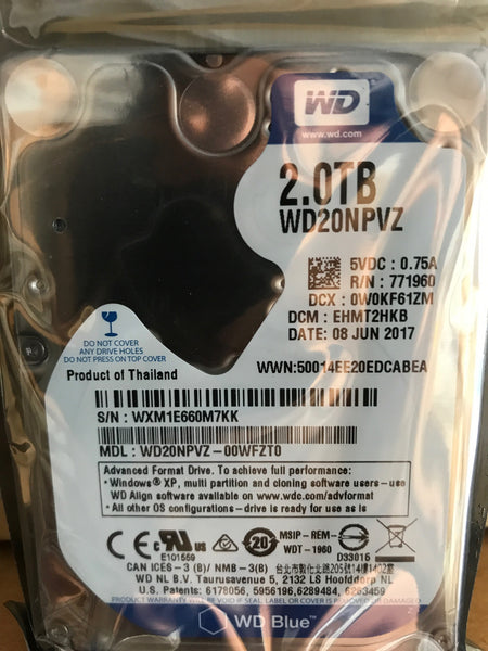 "Western Digital (WD20NPVZ) 2TB, 5400RPM, 15mm, 2.5"" SATA Internal Hard Drive - Anand International Inc."