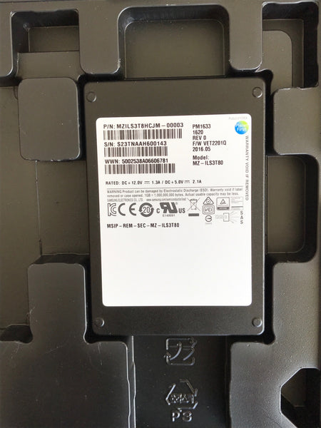 "Samsung PM1633 (MZILS3T8HCJM-00003) 3.84TB, 2.5"" SAS SSD - Anand International Inc."