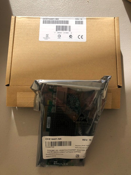 OCE14401-NX EMULEX 40GB SINGLE-PORT ETHERNET New Sealed - Anand International Inc.