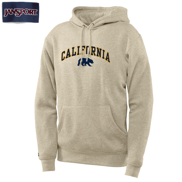 UC Berkeley California Arch Jansport Men's Hoodie Sweatshirt-Oatmeal-Shop College Wear