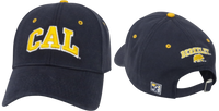 University Of California Berkeley Golden Bears CAL Block Adjustable Ball Cap- Navy-Shop College Wear