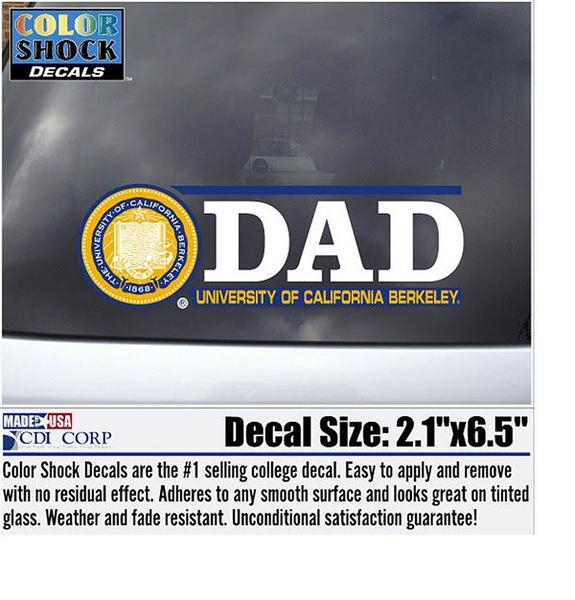 UC Berkeley Dad Decal-Shop College Wear