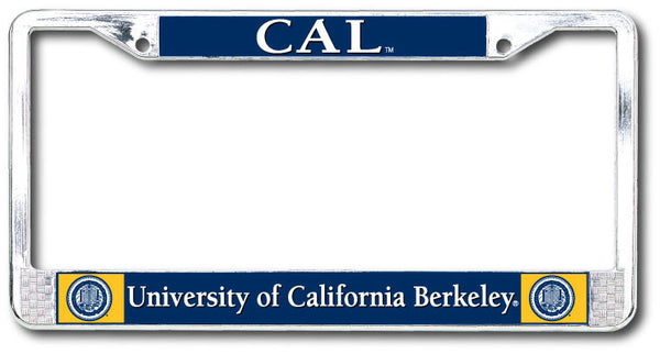 University Of California Berkeley Dome on Chrome License Plate Frame-Shop College Wear