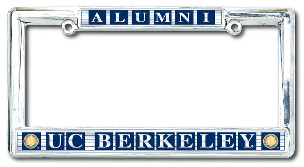UC Berkeley Cal Alumni Classic Metal license Plate Frame-Silver-Shop College Wear