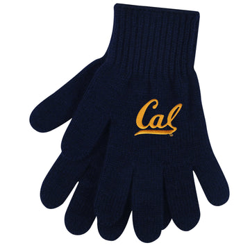 U.C. Berkeley Cal embroidered knit glove-Navy