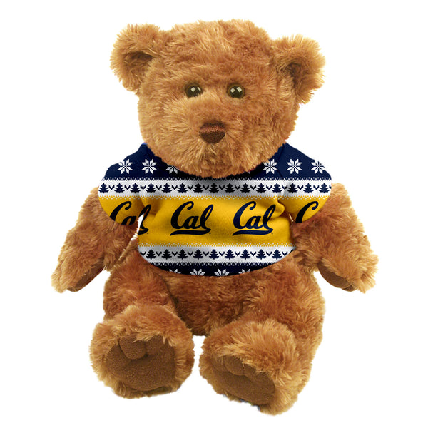"U.C. Berkeley Cal 10"" Teddy bear with sublimated T-Shirt-Tan-Shop College Wear"