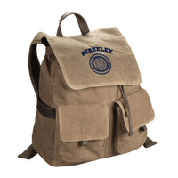 U.C. Berkeley Cal waxed canvas backpack-Tan-Shop College Wear