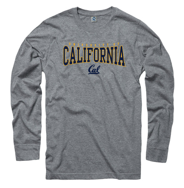 UC Berkeley Cal Long Sleeve Ring Spun T- Shirt-Shop College Wear