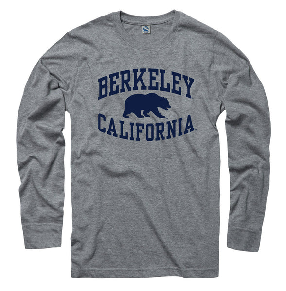 University Of California Berkeley Cal Long Sleeve Ring Spun T-Shirt- Gray-Shop College Wear
