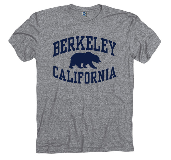 UC Berkeley Cal Men's Tri Blend T-Shirt- Gray-Shop College Wear