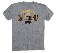 UC Berkeley Men's Tri Blend T-Shirt- Charcoal-Shop College Wear