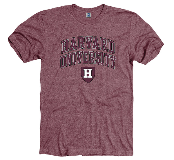 Harvard University Men's Tri Blend T-Shirt-Crimson-Shop College Wear