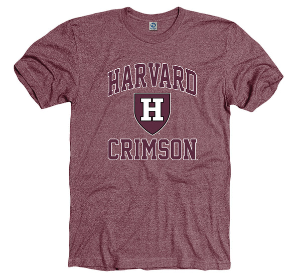 Harvard Crimson Men's Tri blend T-Shirt-Shop College Wear