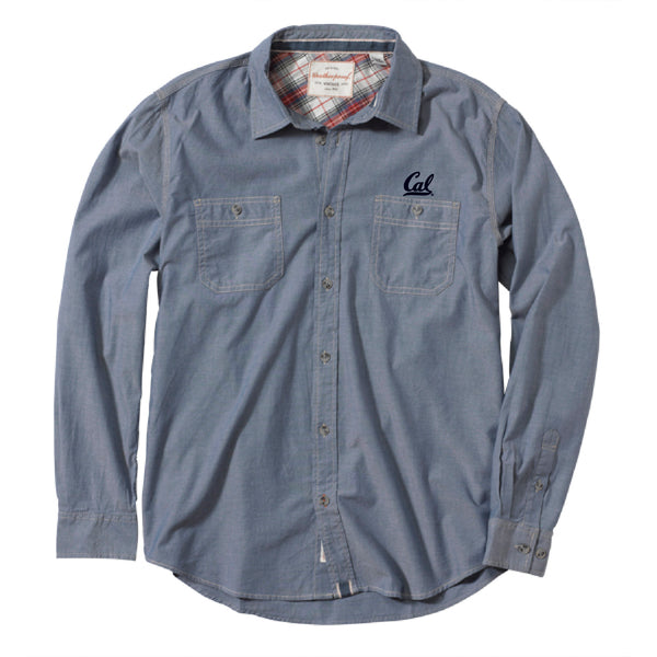 UC Berkeley Cal embroidered Men's Button Down Shirt-Chambray-Shop College Wear