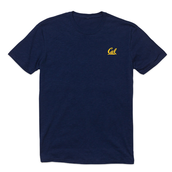 UC Berkeley Cal embroidered Men's Slub T-Shirt - Navy-Shop College Wear