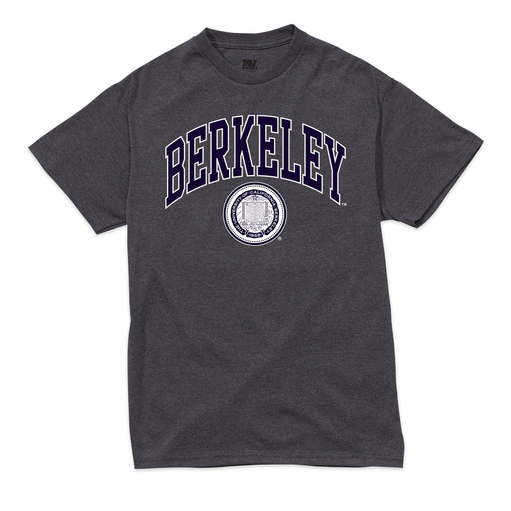 UC Berkeley Cal Men's Retro Heather T-Shirt-Navy-Shop College Wear