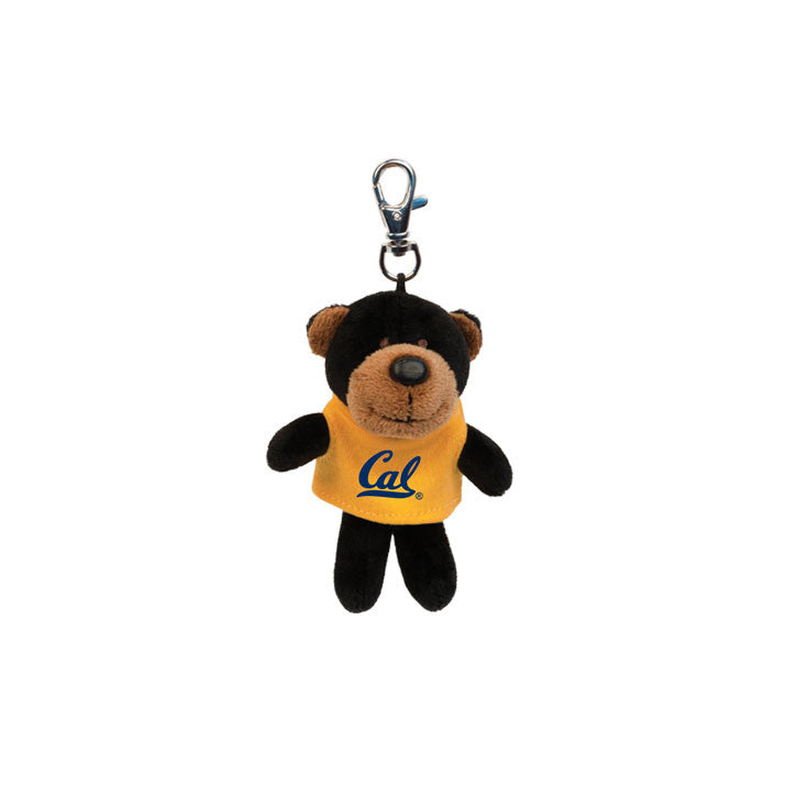 UC Berkeley Cal Plush Key Tag- Black-Shop College Wear