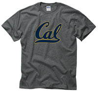University Of California Berkeley Golden Bears Bold Cal Script Men's T- Shirt- Charcoal-Shop College Wear