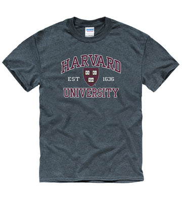 Harvard University Men's T-Shirt-Charcoal